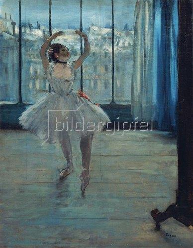 Edgar Degas: Tänzerin im Atelier. 1875