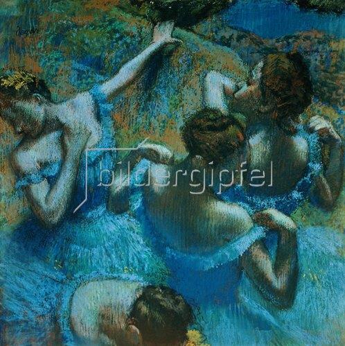 Edgar Degas: Tänzerinnen in blauen Kostümen. Um 1898
