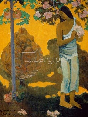 Paul Gauguin: TE AVAE NO MARIA (Frau mit Frühlingsblüten). 1899