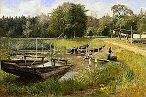 Olof Hermelin: Am Seerosenteich. 1894