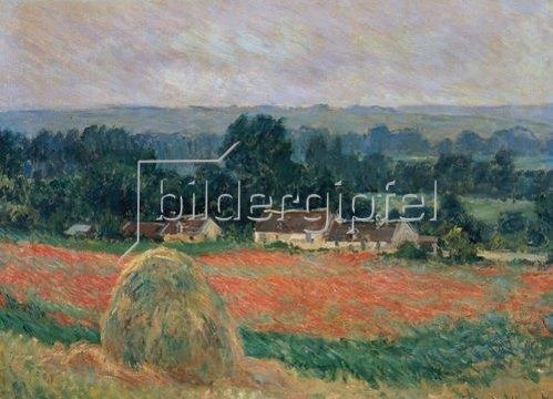 Claude Monet: Heuhaufen in Sommerlandschaft bei Giverny. 1886.