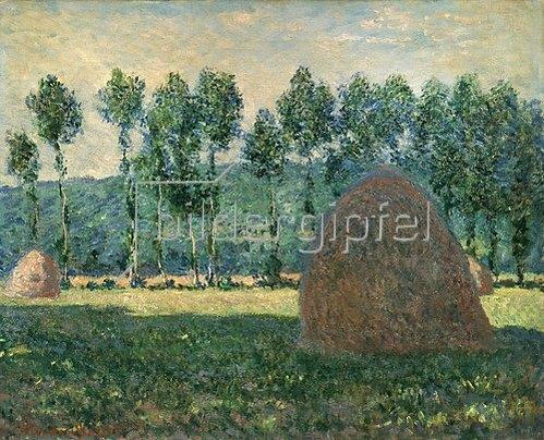 Claude Monet: Heuhaufen bei Giverny. 1884/1889