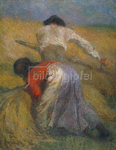 Adolphe Jos.Th Monticelli: Bei der Getreideernte.