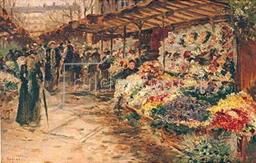 Jean François Raffaelli: Blumenmarkt. 1882