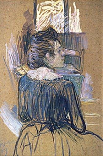 Henri de Toulouse-Lautrec: Frau vor einem Fenster. 1889