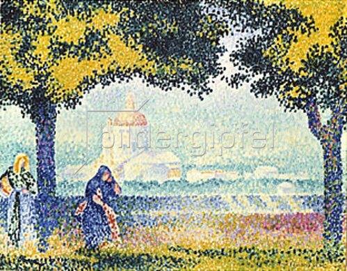 Henri Edmond Cross: Die Kirche Santa-Maria. 1909
