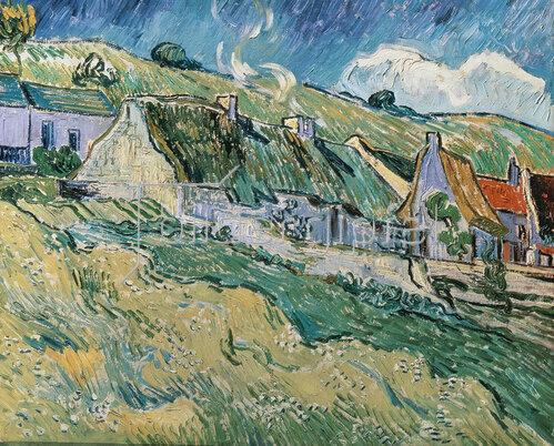 Vincent van Gogh: Strohdach-Häuser. 1890