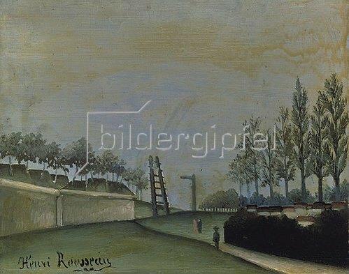 Henri Rousseau: Blick von der Porte de Vanves, Paris. 1909