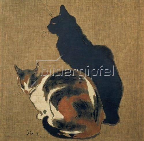 Théophile-Alexander Steinlen: Zwei Katzen. 1894