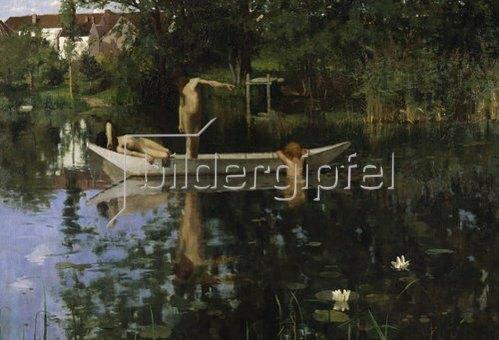 William Stott: Der Badeplatz. Um 1890