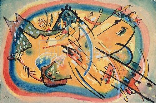 Wassily Kandinsky: Komposition 'Landschaft'. 1915