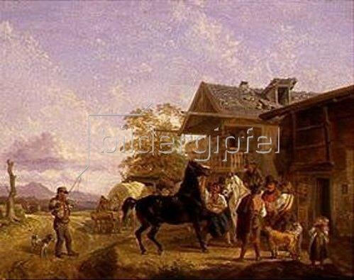 August Franz Schelver: Pferdehandel. 1832