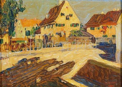 Wassily Kandinsky: Umgebung von Augsburg. Um 1902-03