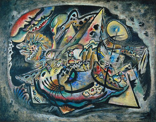 Wassily Kandinsky: Komposition 'Graues Oval'. 1917