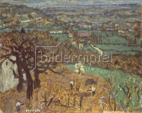 Pierre Bonnard: Landschaft im Dauphiné. 1905.