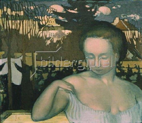 Maurice Denis: Bildnis der Frau des Künstlers. 1893.