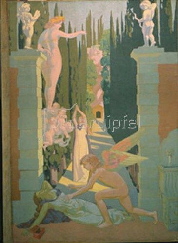 Maurice Denis: Die Geschichte der Psyche. 1908.