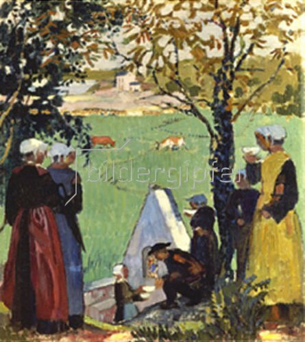 Maurice Denis: Am Calvaire. 1905.