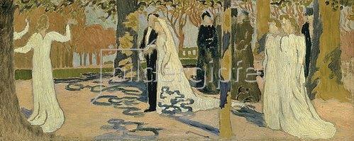 Maurice Denis: Hochzeitsprozession. 1892/93