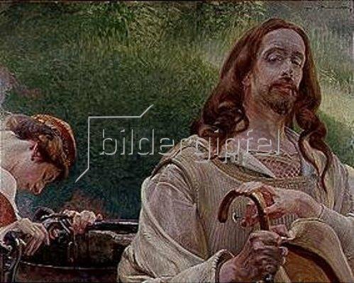 Jacek Malczewski: Christus und die Samariterin. 1910