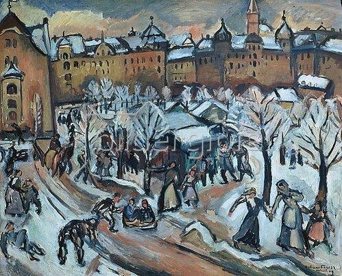Emile Othon Friesz: Schnee in München. 1909.