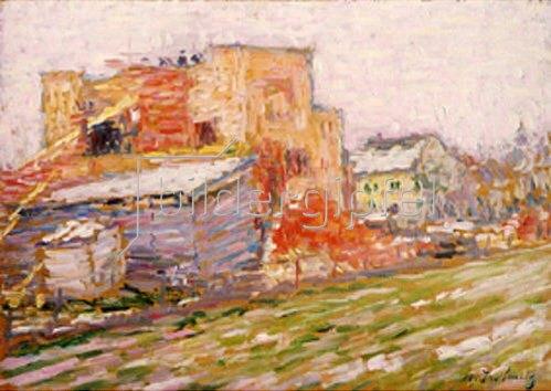 Alexej von Jawlensky: Strasse und Häuser. 1905.
