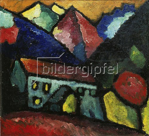 Alexej von Jawlensky: Haus im Gebirge. Um 1912