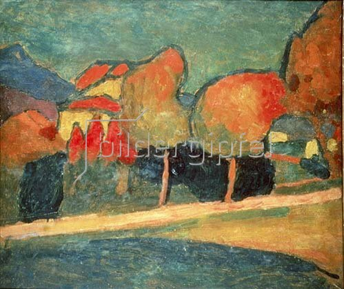 Alexej von Jawlensky: Murnauer Landschaft. 1907.