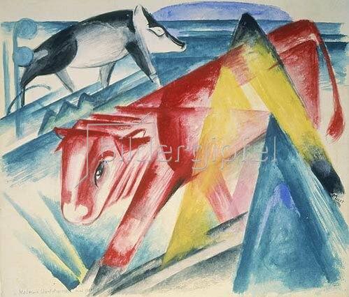 Franz Marc: Rote Kuh und Schwein. 1913.