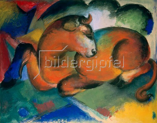 Franz Marc: Roter Stier. 1912