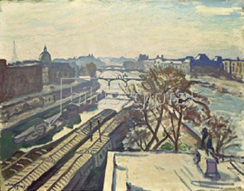 Albert Marquet: Blick auf die Seine in Paris mit Denkmal Henri IV. 1907.