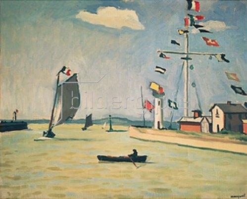 Albert Marquet: Hafeneinfahrt von Honfleur. 1911.