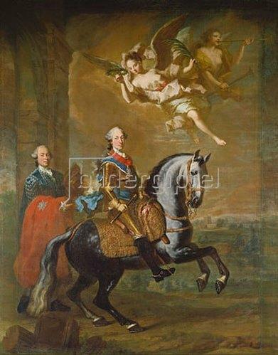 Georg Desmarées: Max III. Joseph von  Bayern zu Pferde