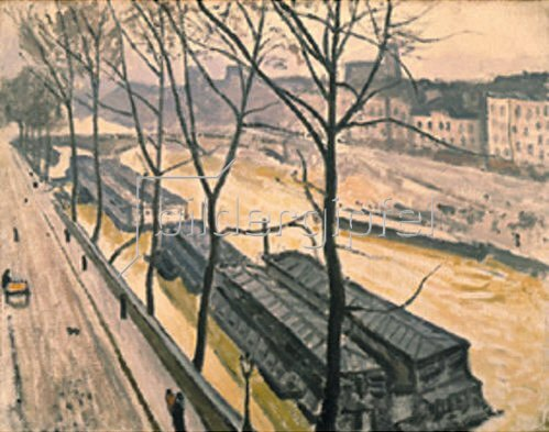 Albert Marquet: Quai Bourbon in Paris im Winter. 1907.
