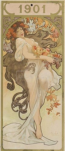 Alfons Mucha: Kalenderblatt 1901.