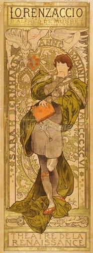Alfons Mucha: Plakat für A. de Musset´s 'Lorenzaccio' in Paris. 1896