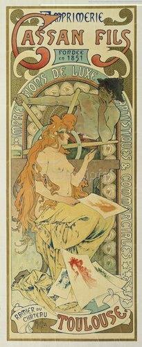 """Alfons Mucha: Werbeplakat für das Druckhaus """"Cassan Fils"""". 1897."""