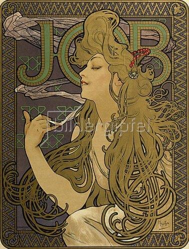 Alfons Mucha: Werbeplakat für 'JOB'. 1897