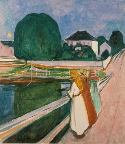 Edvard Munch: Weisse Nacht (Asgaardstrand). 1903.