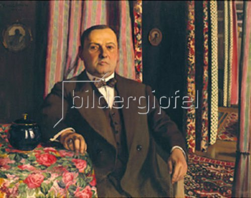 Felix Vallotton: Bild des Gemäldesammlers G.E.Haasen. 1912.