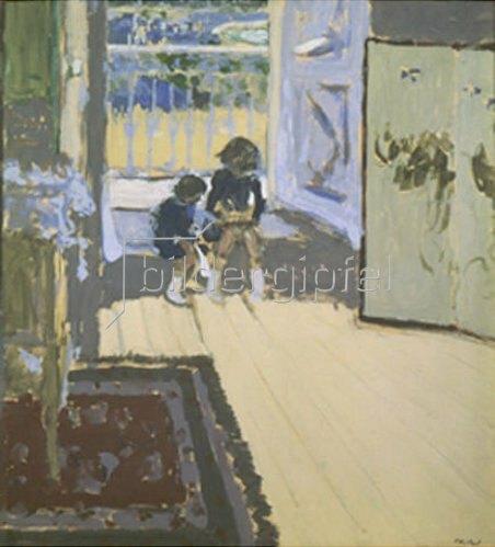 Edouard Vuillard: Kinder vor geöffneter Haustüre. 1909.