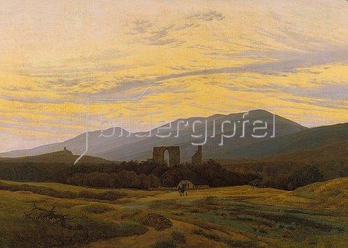 Caspar David Friedrich: Die Ruine Eldena im Riesengebirge. 1830/1834
