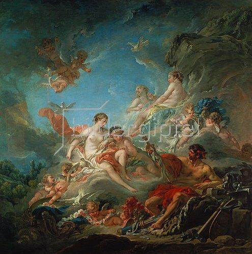 François Boucher: Vulkan überreicht Venus die Waffen für Aeneas