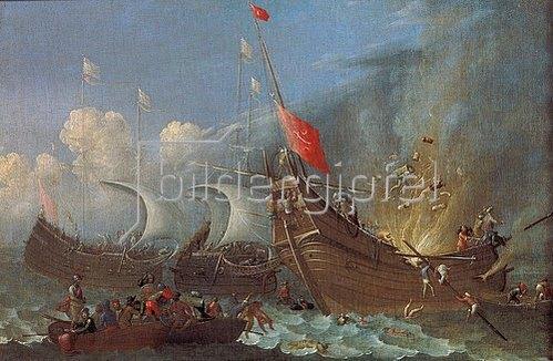 Pietro (Lo Smargiasso) Ciafferi: Bildnis einer Schiffs-Explosion.