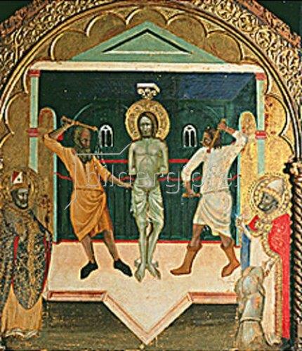 Anonym: Die Geisselung Christi. (Pisa, 14. Jahrhundert)