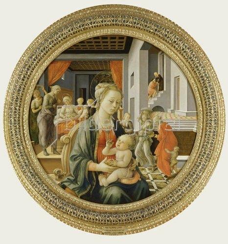 Fra Filippo Lippi: Madonna mit dem Kind und Szenen aus dem Leben der Hl. Jungfrau.