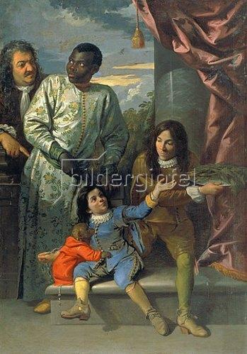 Anton Domenico Gabbiani: Die Familie von Cosimo III. de'Medici.