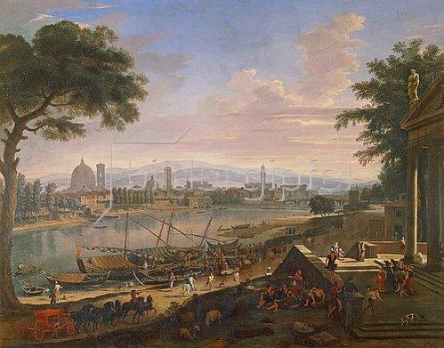 Gaspar Adriaens van Wittel: Ansicht von Florenz mit Pignone.