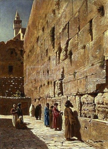Charles Robertson: An der Klagemauer. 1873