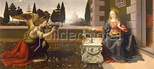 Leonardo da Vinci: Die Verkündigung Mariae.